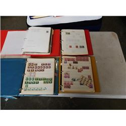 4 BINDERS OF COLLECTABLE STAMPS - CANADA, UNITED STATES, NEW ZEALAND AND ST VINCENT
