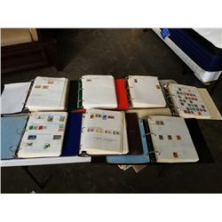 LARGE COLLECTION OF WORLD STAMPS - 7 BINDERS ORGANIZED BY COUNTRY NAME some as early as late 1800s
