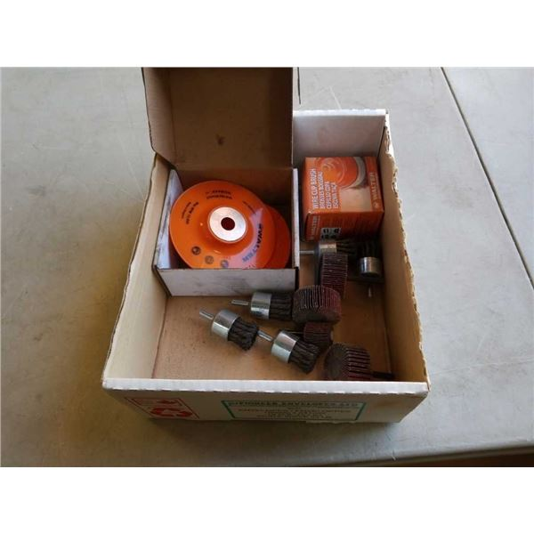 Lot of new Walter flap wheels and grinding wheels