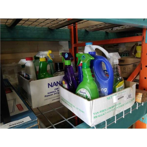 2 BOXES OF CLEANING FLUIDS AND SPRAYS