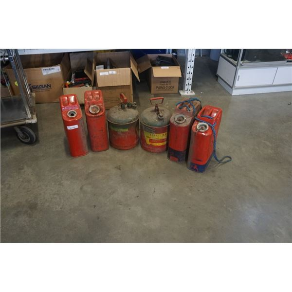 6 METAL GAS CANS