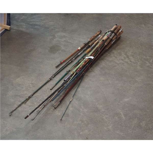 LARGE BUNDLE OF FISHING RODS