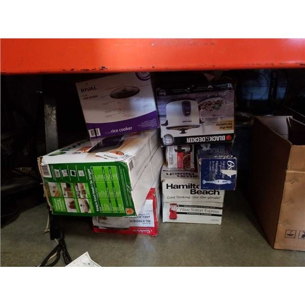 LARGE BOX OF STORE RETURN APPLIANCES