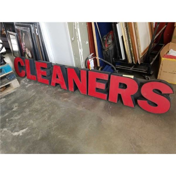 9 foot long 110 volt cleaner sign working