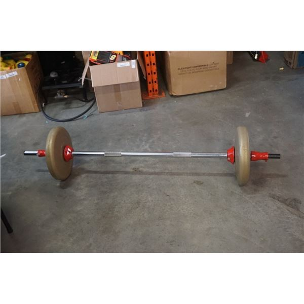 Barbell with 50LB of weight