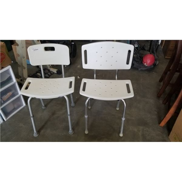 2 BATH ASSIST CHAIRS