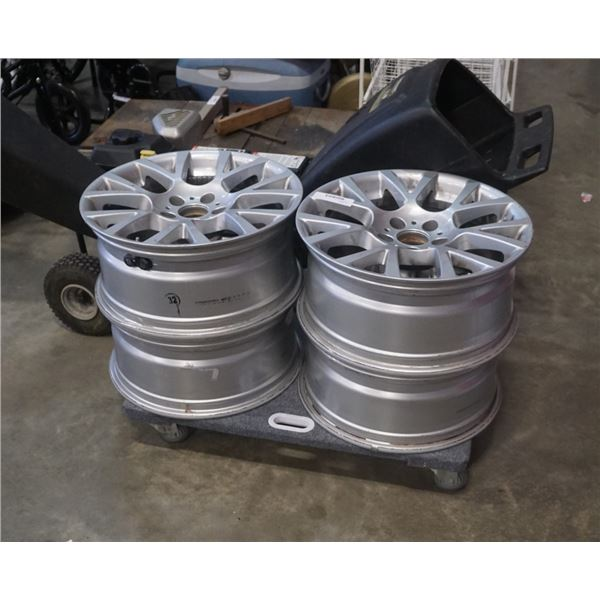 "4 BMW 5 bolt 18"" rims"