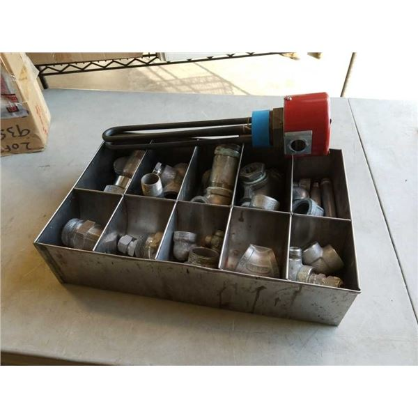 Tray of stainless pipe fittings and Caloratech heater