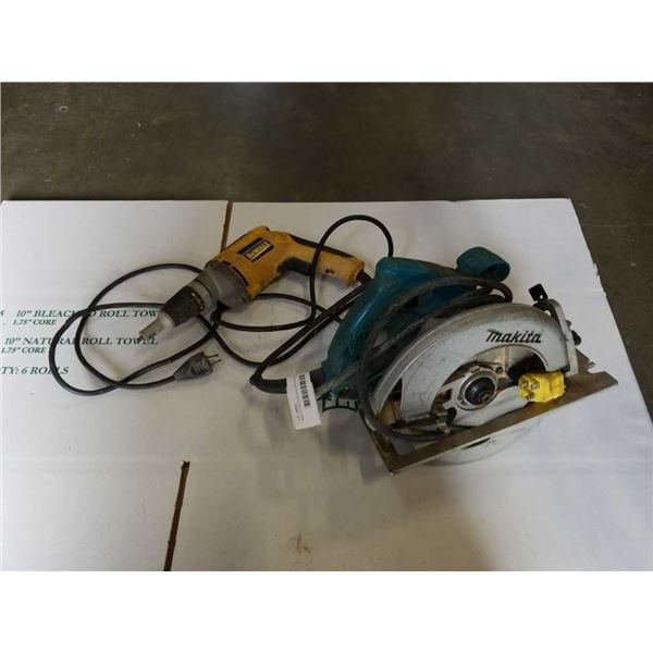 MAKITA CIRCULAR SAW AND DEWALT DRYWALL DRILL