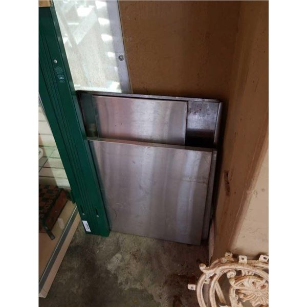 4 stainless shelves