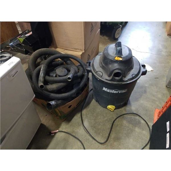 Mastercraft shop vac with box of accessories tested working