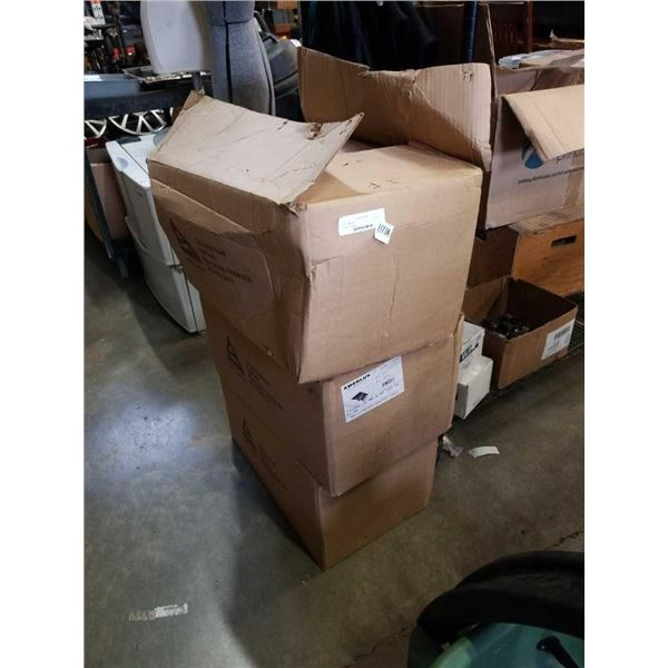 3 boxes of amerilux triple interior lighting fixtures