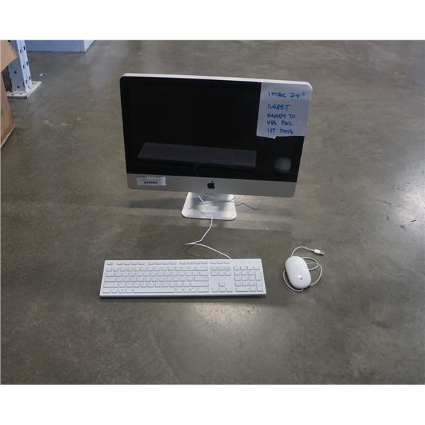 IMAC 24 INCH COMPUTER WITH KEYBOARD AND MOUSE  MODEL A1311