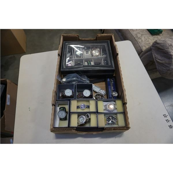 TRAY OF WATCHES - STRADA  AND OTHER