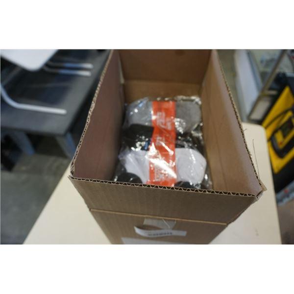 BOX OF NEW SOCKS SIZE 10-13