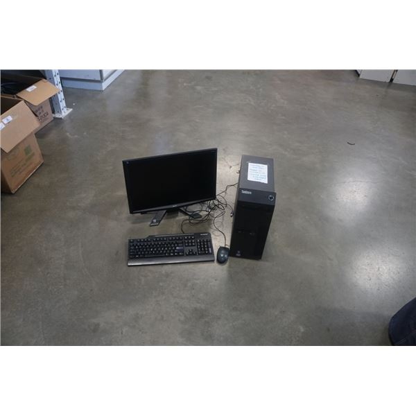 LENOVO I3 2ND GEN COMPUTER WITH WINDOWS 10, 500GB HD 4GB DDR3 RAM AND PERIPHERALS