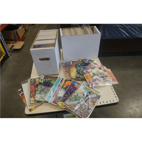2 BOXES OF COLLECTABLE COMICS