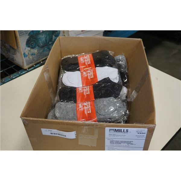 BOX OF NEW SOCKS SIZE 10-13