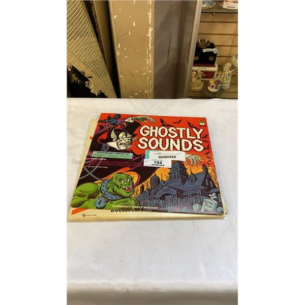 3 DIFFERENT SOUND EFFECTS RECORDS INCLUDING GHOSTLY SOUNDS