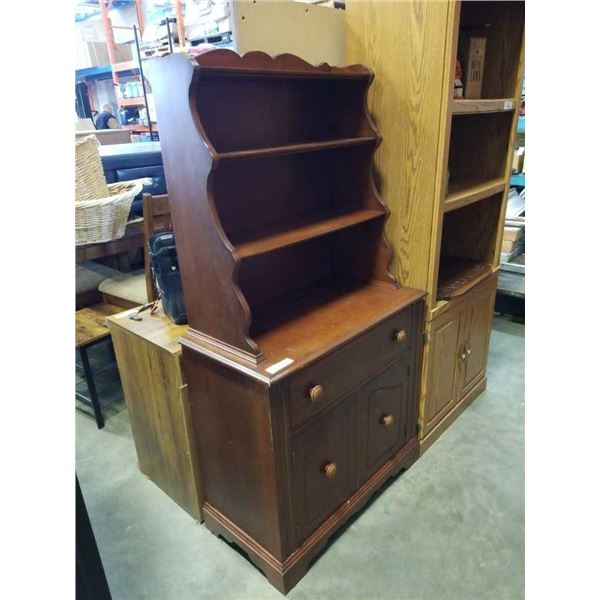 MAPLE HUTCH TOP CABINET