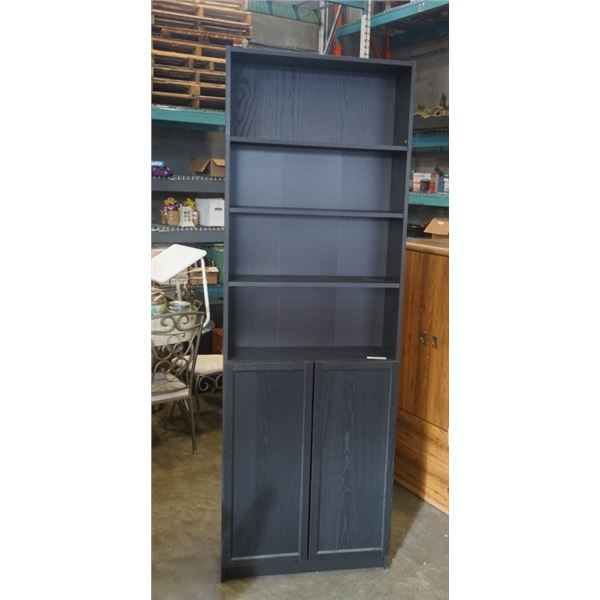 TALL BLACK BOOKSHELF - APX 93 INCHES TALL