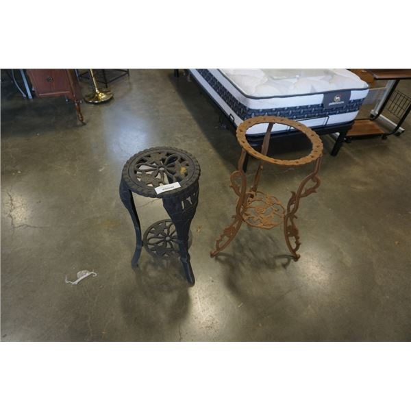 2 IRON PLANTER STANDS