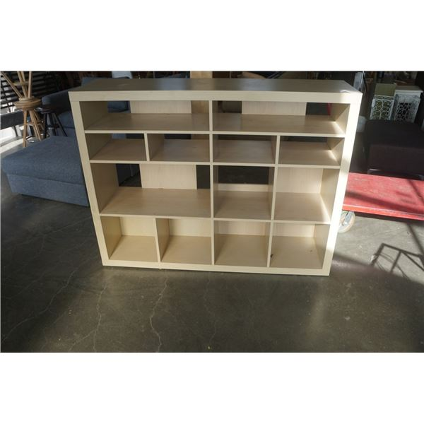 MAPLE CUBICAL SHELF 45 TALL X 59 INCHES WIDE