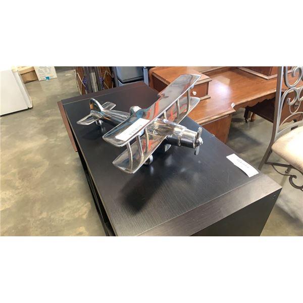 Stainless steel biplane model