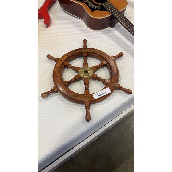 Ship wheel wall hanging