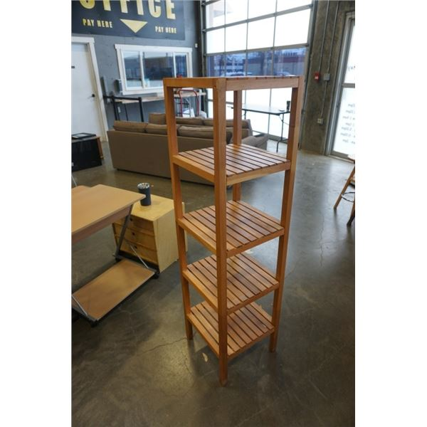 WOOD 5 TIER SHELF 55 INCHES TALL