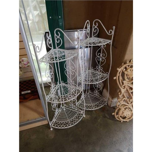 2 decorative metal corner shelves 38 inch