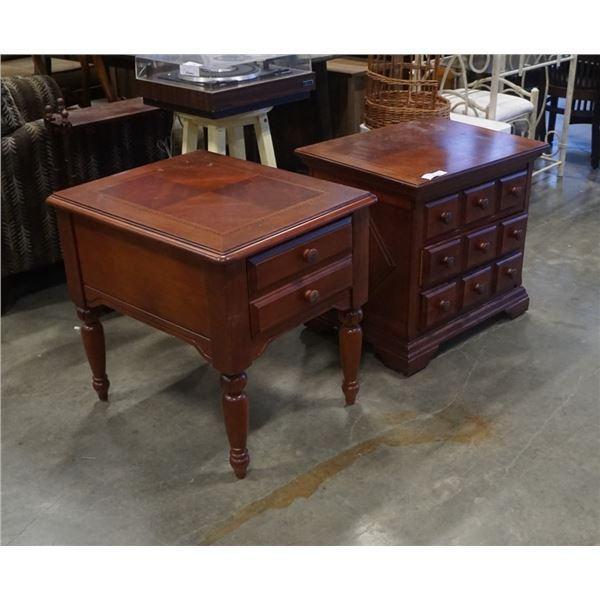 HAMMARY LAZBOY CO INLAID NIGHTSTAND AND ENDTABLE