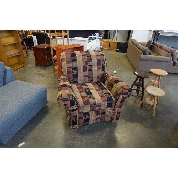 UPHOLSTERED ROLLED ARM CHAIR