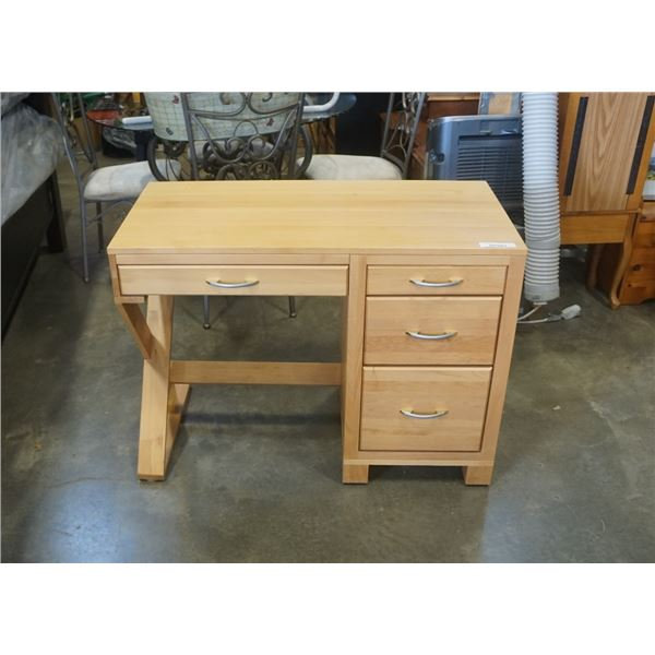 MAKO MAPLE 4 DRAWER DESK
