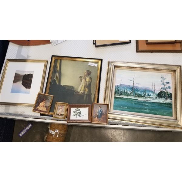 LOT OF PRINTS AND PAINTINGS