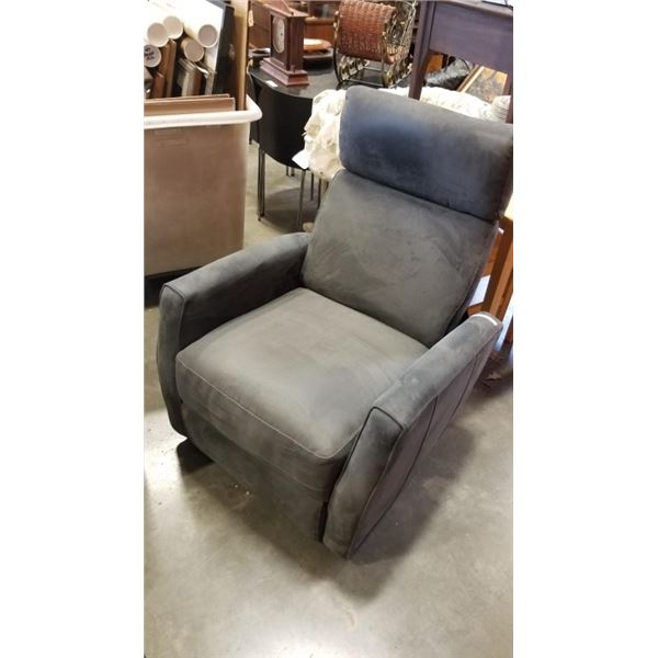 GREY UPHOLSTERED SWIVEL CHAIR - NO POWER SUPPLY