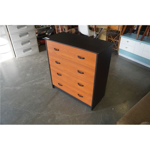 4 DRAWER BLACK DRESSER