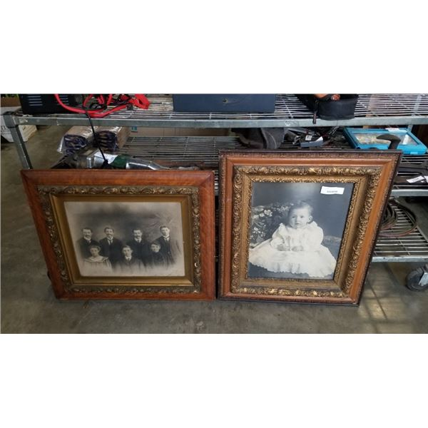 2 ANTIQUE FRAMED PORTRAITS