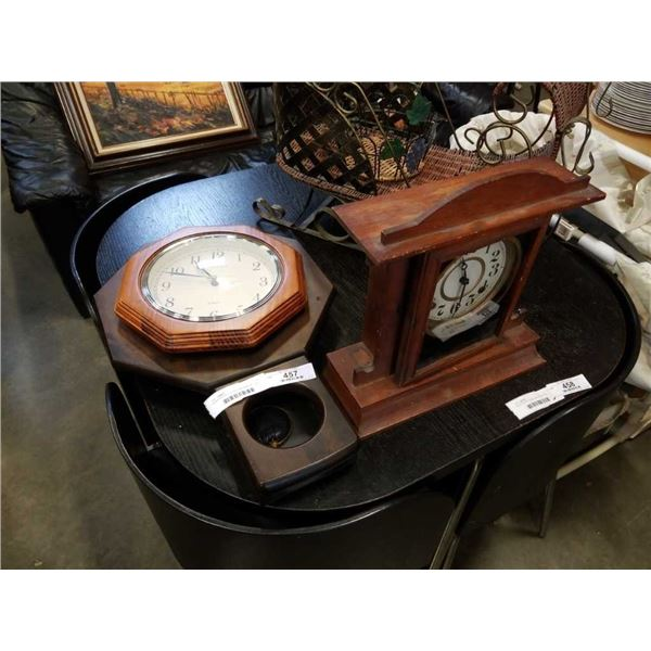 INGRAHM WALL CLOCK AND MANTLE CLOCK