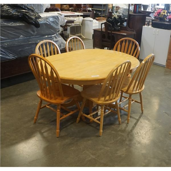 Oval dining table and 6 chairs