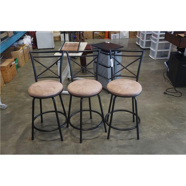 3 modern barstools