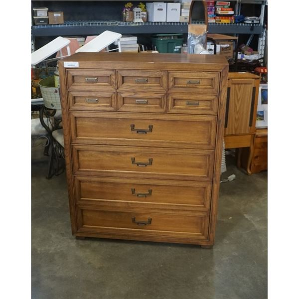 5 DRAWER WALNUT CHEST OF DRAWERS