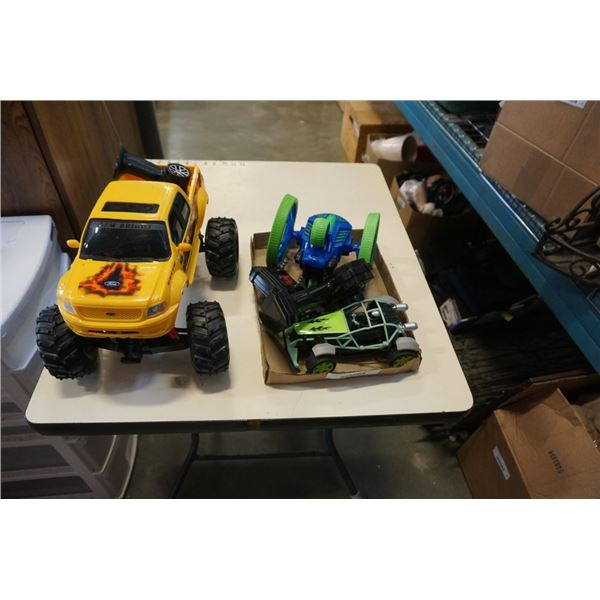 RC ONSTER TRUCK, CART AND VEHICLE