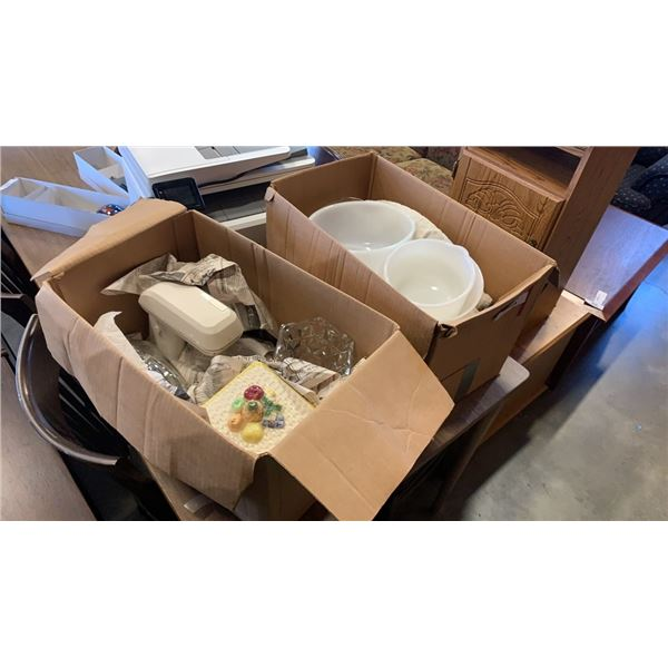 2 BOXES OF SUNBEAM MIXER AND LOT OF MIXING BOWLS ETC