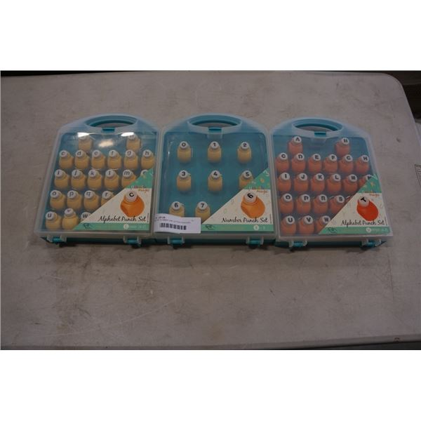 SET OF NUMBER AND LETTER PUNCHES