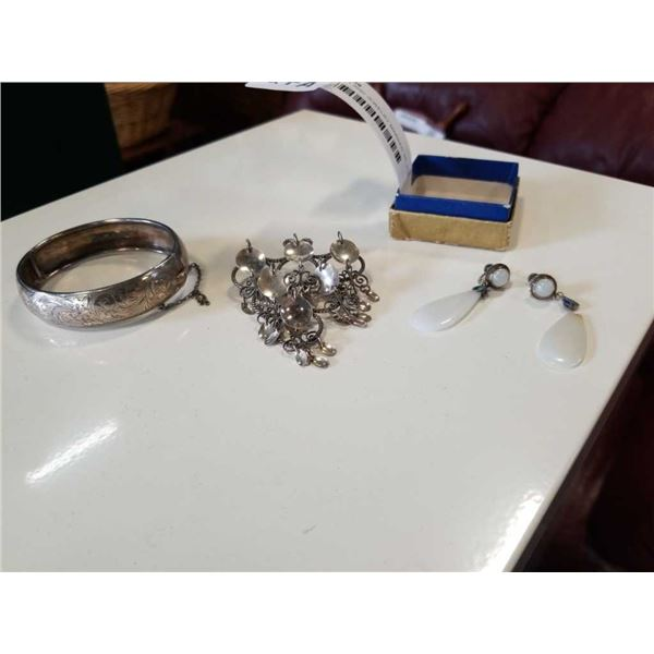 BRACELET AND JEWELRY MARKED SILVER