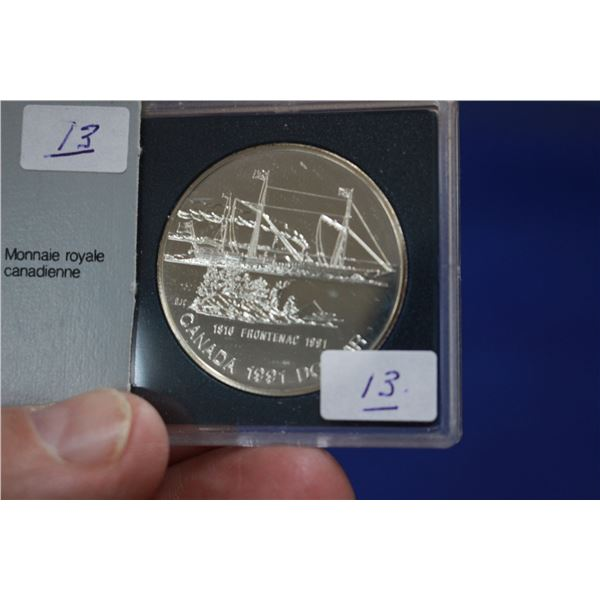 Canada One Dollar Coin (1) - 1991; 50% Silver