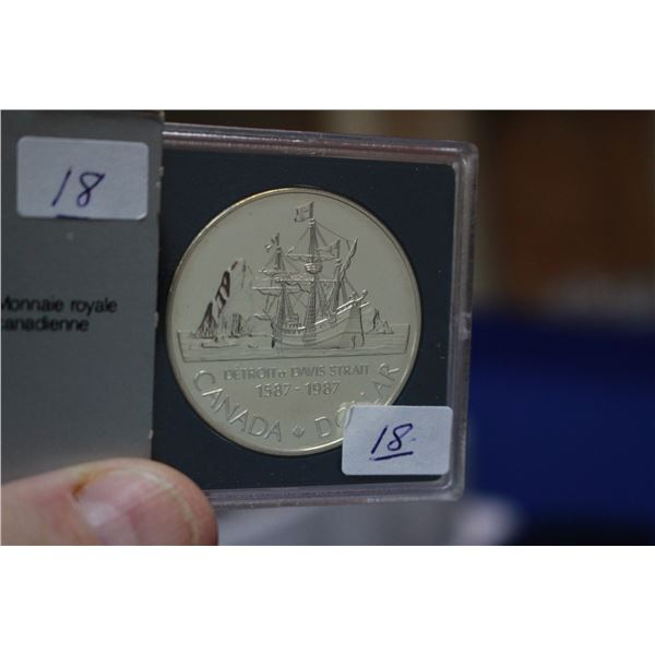 Canada One Dollar Coin (1) - 1987; 50% Silver