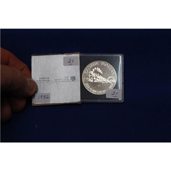 Canada One Dollar Coin (1) - 1986; 50% Silver