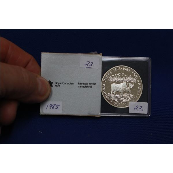 Canada One Dollar Coin (1) - 1985; 50% Silver
